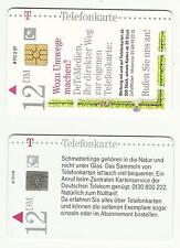 GERMANY – DEUTSCHE – 1996 -1997 PHONECARDS - Lot of TWO (2) – USED