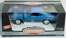 ERTL 1/18 1970 Mustang Boss 302 GRABBER BLUE Car #7325 SEALED American Muscle 70