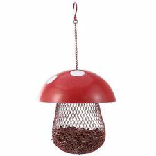 Bird Feeder Outdoor Mushroom Shaped Decorative Metal Hanging Garden Decorations