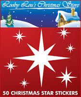 XMAS STAR CHRISTMAS WINDOW STICKERS - REUSEABLE WINDOW CLINGS
