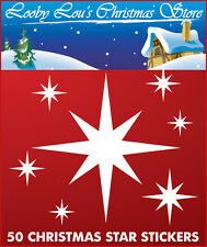 XMAS STAR CHRISTMAS WINDOW STICKERS - REUSEABLE WINDOW CLINGS
