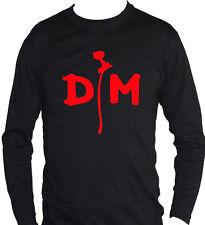 fm10 t-shirt manica lunga unisex DEPECHE MODE pop rock stampa ROSSA musica