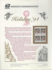 # 2871 HOLIDAY GREETINGS, VIRGIN & CHILD 1994 COMMEMORATIVE PANEL