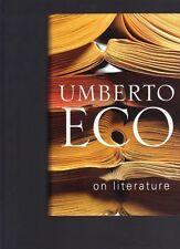 On Literature by Umberto Eco (Hardback)
