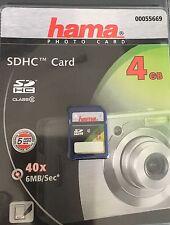 HAMA PHOTO CARD SDHC CARD 4GB 00055669+neu+40x6MB/Sec*