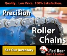 """#100 Roller Chain 1-1/4"""" Pitch Riveted with 2 Connecting Links 100-1R-10FT"""