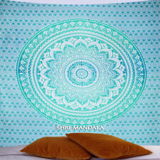 Green Tapestry King Size Hippie Wall Hanging Green Ombre Mandala Wall Tapestry