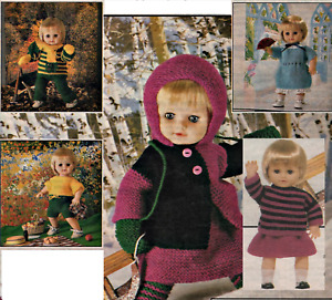 """Easy Knitting Pattern Baby Dolls Clothes 16"""" DK 11 easy items to knit"""