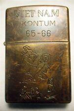 Vietnam War Zippo Lighter KONTUM 65 - 66 Vintage