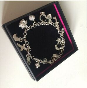 925 Sterling Silver Charm Bracelet New in Box