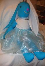 "OOAK Soft blue bunny doll 27"""