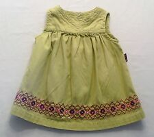 "Gymboree ""Garden Party"" Vtg Floral Border Green Corduroy Jumper Dress, 3-6 mos."