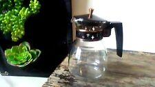 Vintage Pyrex LCR-2 Silex Co Coffee Carafe Pot Black Gold Mid-Century Modern USA