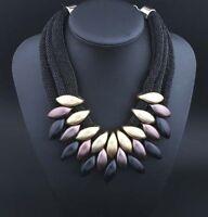 CCB Mesh Fashion Women Bib Collar Choker Chain Pendant Necklace Chunky Statement