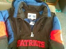 VINTAGE NEW ENGLAND PATRIOTS AUTHENTIC STARTER PULLOVER COAT SIZE M , FLAWLESS !