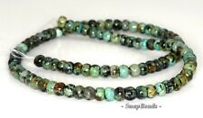 6X4MM AFRICAN TURQUOISE GEMSTONE GREEN RONDELLE DONUT 6X4MM LOOSE BEADS 16""