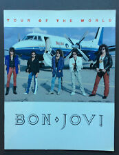 BON JOVI Tour Of The World 86-87 Tour Program Guide Book With Backstage Pass