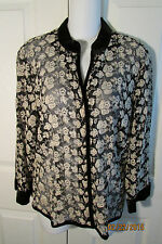 Talbot's Embroidered Jacket, 12, Rayon/Nylon, 3/4 Sleeves