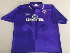 95-96 ACF Fiorentina Viola Jersey Shirt Maglia Home Sammontana Reebok  Vintage 2b26a4074