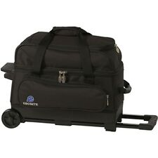 Ebonite Transport 2 Ball Roller Bowling Bag with Wheels Black 5 Year Warranty