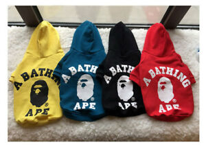 NEW BAPE Pet Dog Cat Sweartershirt Hoodie Coat Pet Puppy Hoodie Clothes