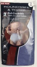 Roundtree & Yorke Mens 2 Pairs Briefs Blue Gray 54 Cotton NWT