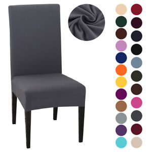 1pc Dining Chair Cover Stretch Slipcover Universal Removable Chair Protective VA
