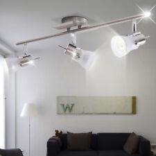 Decken Strahler Leuchte silber Schlaf Zimmer Beleuchtung Glas Spot Lampe drehbar
