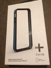 TAVIK HIGH QUALITY IMPACT RESISTANT BUMPER CASE FOR APPLE iPHONE 5 5S SE - BLUE