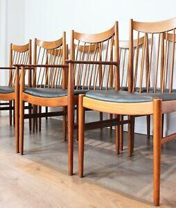 Vintage Danish Dining Chairs Arne Vodder Sibast 8 Teak Model 422 High Back