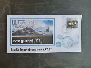 2017 HEARD ISLAND PENGUINS STAMP ISSUE FDC FIRST DAY COVER