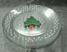 "Arcoroc ACO5 Confetti Christmas Tree Set of 6-9 1/8"" Dinner Plate Dayton Hudson"