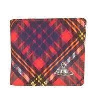 Vivienne Westwood Men's Red Tartan Wimbledon Billfold Wallet