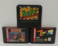 Zoop, Risk World Conquest, Ballz - Sega Genesis Working 3 Game Lot Games Bundle