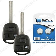 Replacement for Lexus 98-01 ES300 98-00 LS400 SC300 SC400 Remote Key Fob Pair