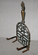 Antique Early English Brass Iron Trivet Fireplace Hearth Kettle Stand England