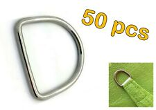 50pcs STAINLESS STEEL 316 DEE D RING MARINE DECK SHADE SAIL - 4mm x 20mm