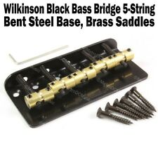 Wilkinson 5 String Black Bass Bridge Brass Saddles Precision Jazz WBBC BB518