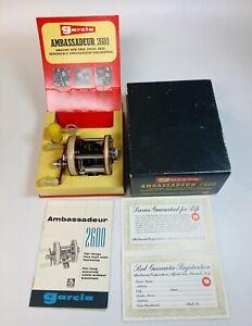Ambassadeur Abu Garcia 2600 Fishing Reel Vintage Reels Box Paperwork