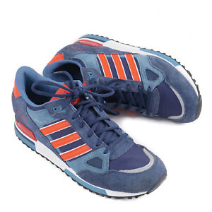 Adidas Originals Deadstock ZX 750 Shoes Sneakers US 9.5 Navy Blue/Poppy