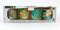 Set of 4 TIKI Theme Double Old Fashioned Glasses With Box 13.25 fl. oz.