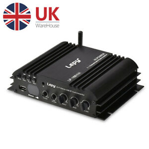 Bluetooth Audio Power Amplifier 2.1 Channel Subwoofer Speaker Amp for Car / Home
