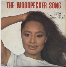 "LARA SAINT PAUL - The woodpecker song VINYL 7"" 45 ITALY 1981 NEAR MINT COVER VG+"