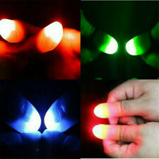 2x Led Finger Thumbs Light red Color Magic Prop Party Bar Show Lamp,