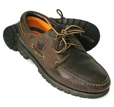Timberland MEN'S Brown Leather Waterproof Gore-Tex Loafers Size 9M US