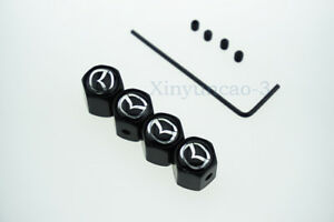 For Mazda 3 5 6 Car Logo Anti-Theft Tire Valve Caps Covers Wheel Accessories