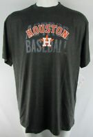 Houston Astros Men's Majestic Big and Tall Gray Short Sleeve Tee MLB 3XL 4XLT