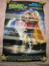 "VINTAGE ORIGINAL 1989 MOVIE POSTER BACK TO THE FUTURE 2 (21"" x 13.5"") NO REPRO"