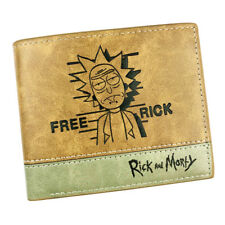Rick and Morty The Rick Trifold Wallet Men Cartoon Brown Cards Notes
