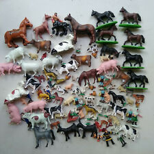 lot jouet animaux personnage de la ferme plastique